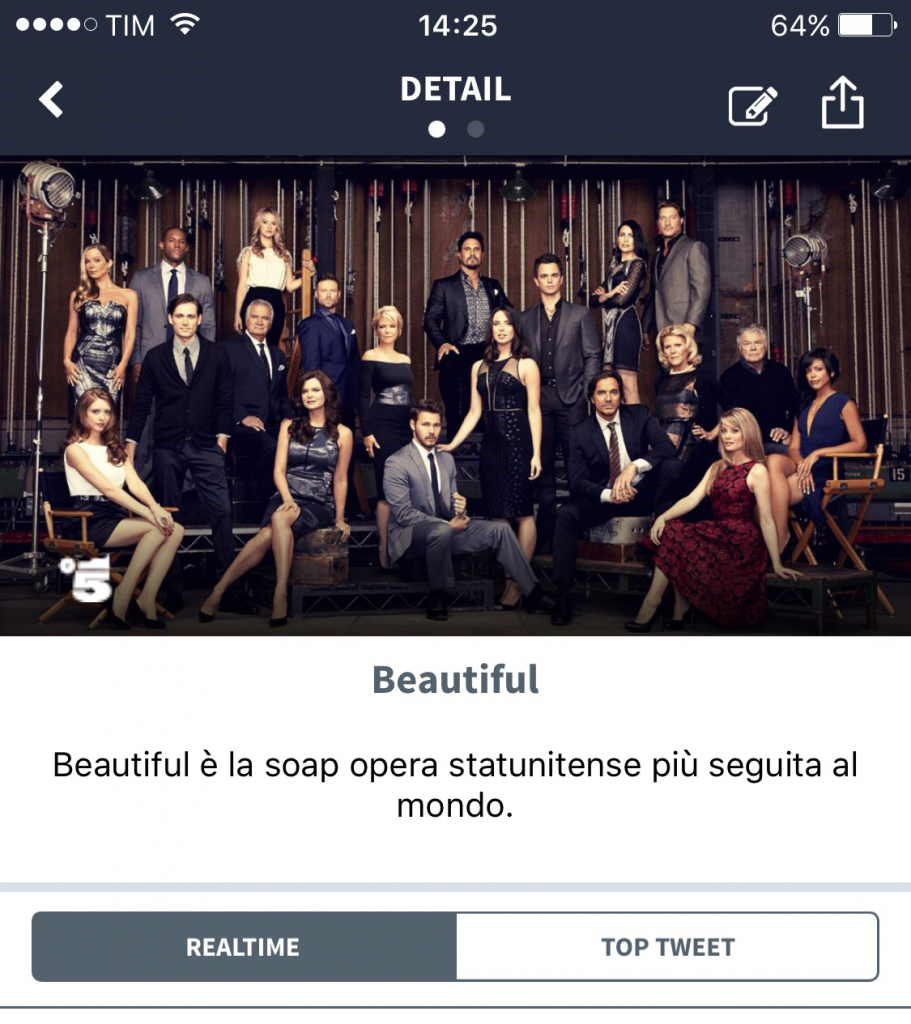 #twittamibeautiful su MySecondScreen